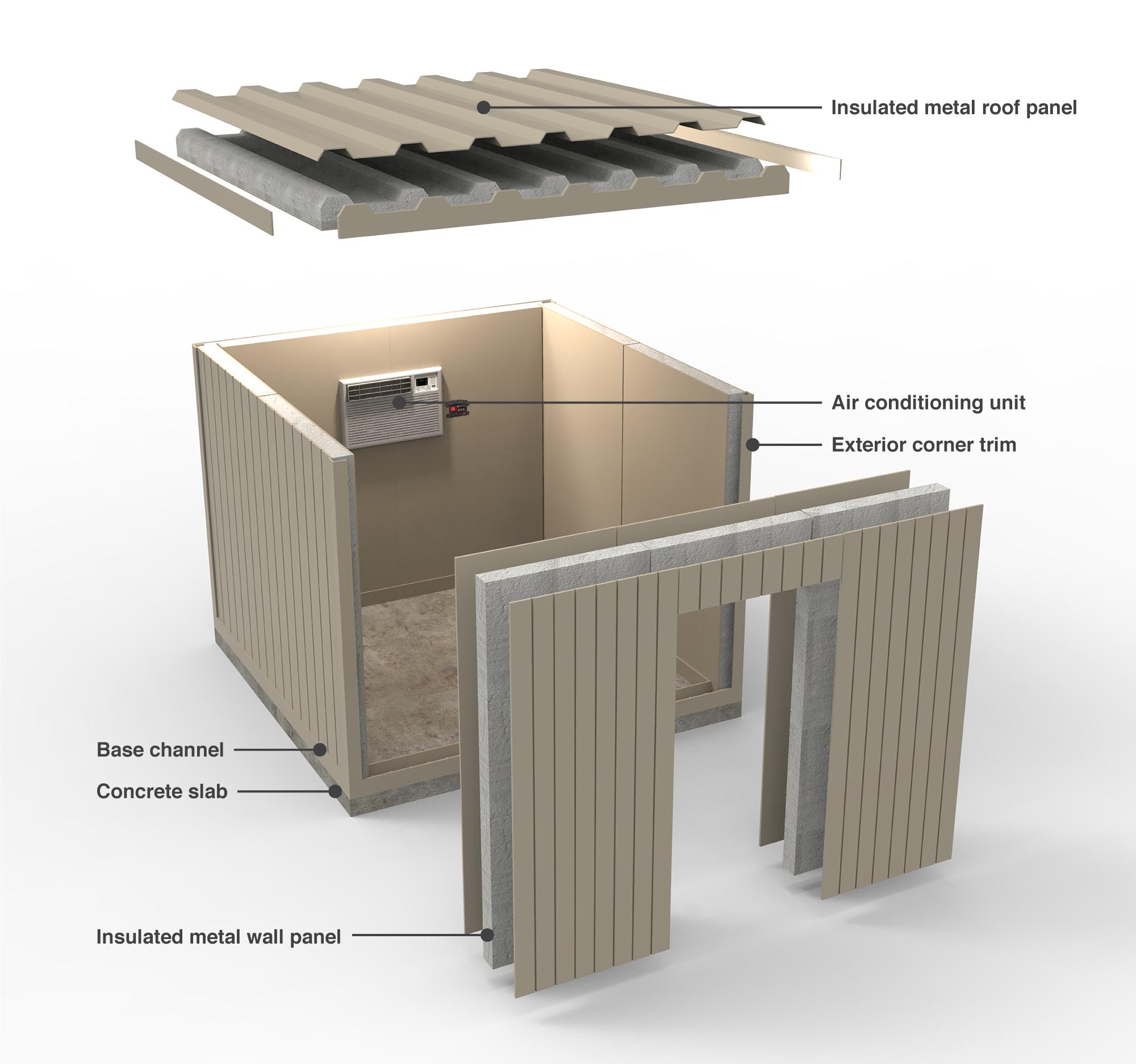 Walk In Cooler Panels >> Walk In Cooler Kits Flepak Construction